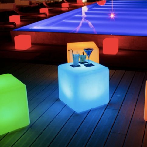 Lights.com | Party Lights | Backyard & Pool | Color Changing LED Cube Light by LampLust