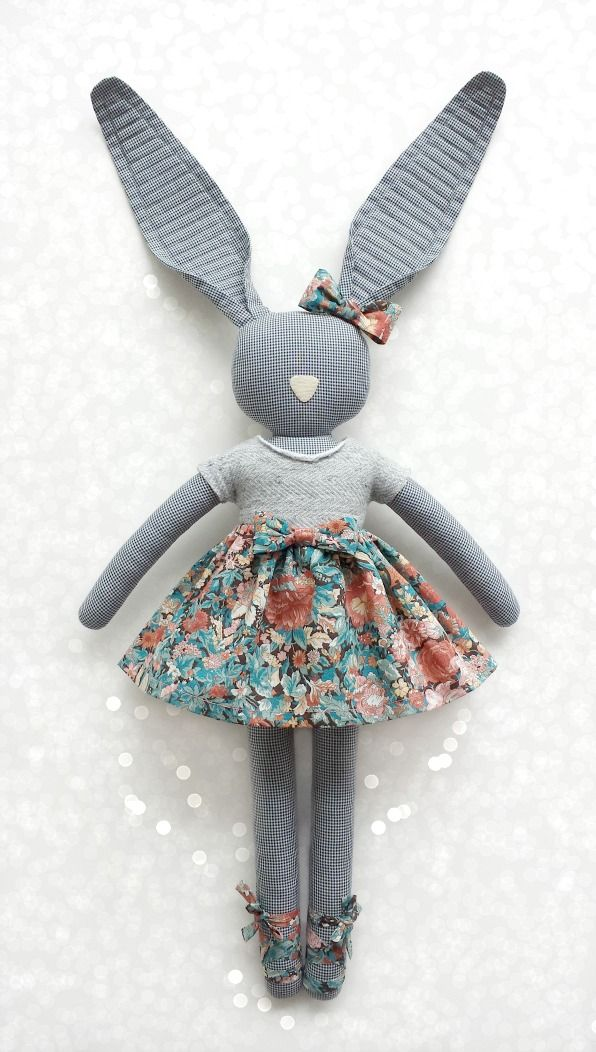 Fabric Bunny - blog Navy Plum