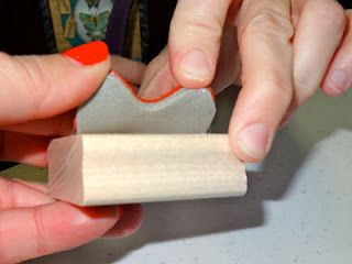 How to change wood mount stamps to clear mount