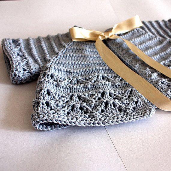 Knitting Baby Sweater Measurements : Knitting pattern pdf file baby cardigan shrug sizes