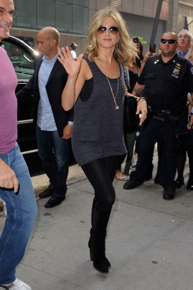 Jennifer Aniston enters the 'Good Morning America' taping at the ABC Times Square Studios on September 26 2011 in New York City