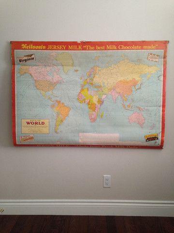 Neilson Chocolate Schoolhouse World Map – ThingsIBuyForYouToThenBuy