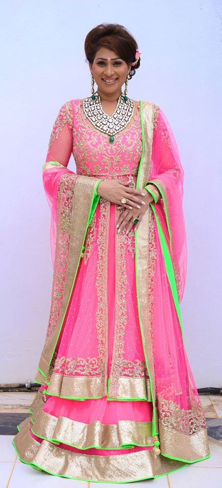 Elegant Pink Long Anarkali Salwar Kameez from your desired online portal