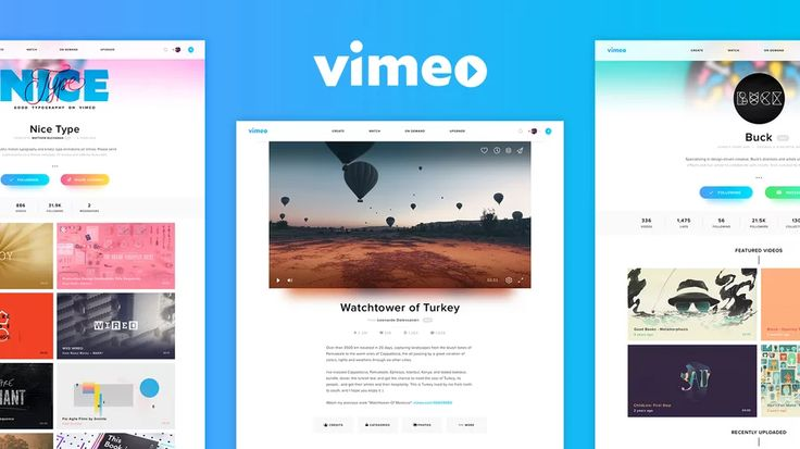 Vimeo Redesign Concept on Vimeo
