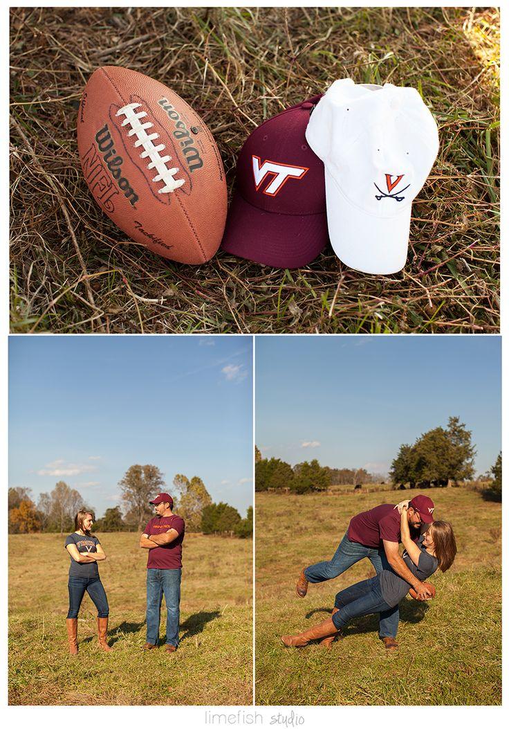 Limefish Studio: Rachel + Matt :: Madison Virginia Country Engagement Photos | Football Rivalry Engagement Ideas