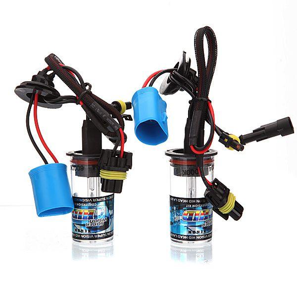 2x coche 9004 35w ocultó sustitución de la bombilla de la lámpara de luz de los faros de xenón nueva