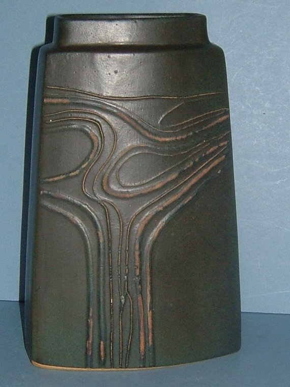 1970s Troika of Cornwall Art Pottery Tall Angular by BiminiCricket, $150.00