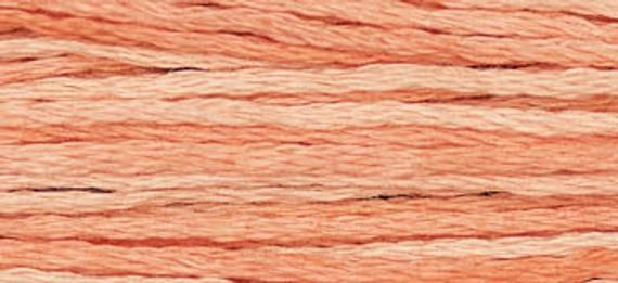 CANTALOUPE 2243 Weeks Dye Works WDW hand-dyed embroidery floss cross