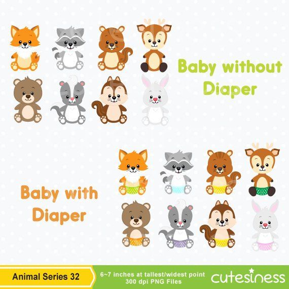 Woodland Baby Animals Clipart Forest Animal Clipart Etsy Animal Clipart Baby Clip Art Cute Doodles Drawings