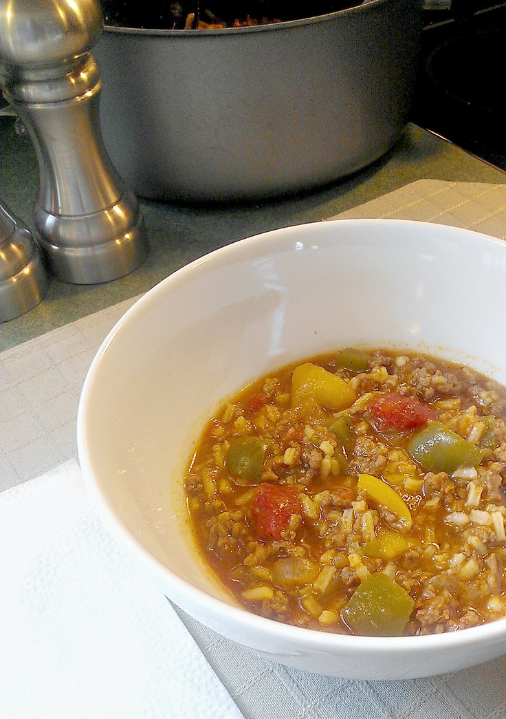 Stuffed Pepper Soup is sweet from the bell peppers and a touch of brown sugar.  Tastes like stuffed peppers in a bowl.