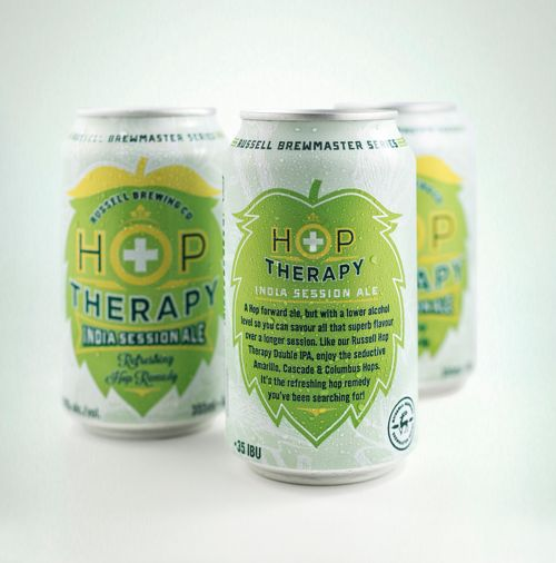 Russell Brewing Co.'s Hop Therapy India Session Ale via @The Dieline