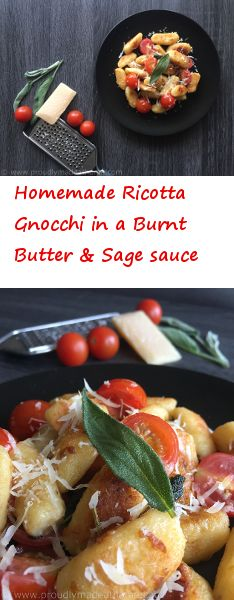 30 min Homemade Ricotta Gnocchi in a Burnt Butter and Sage sauce!