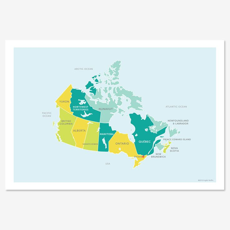 Map of Canada 51 best Canada images