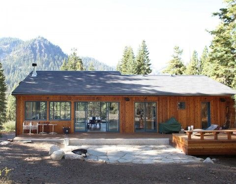 CCS Architecture, Alpine Meadows residence: view from the North side