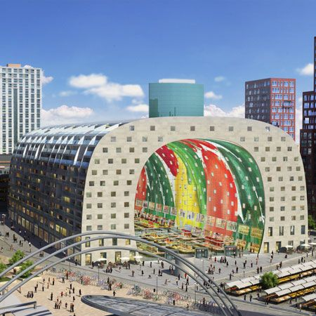 Best Rotterdam Market Ideas On Pinterest Rotterdam - Incredible 36000 sq ft mural lines ceiling market hall rotterdam