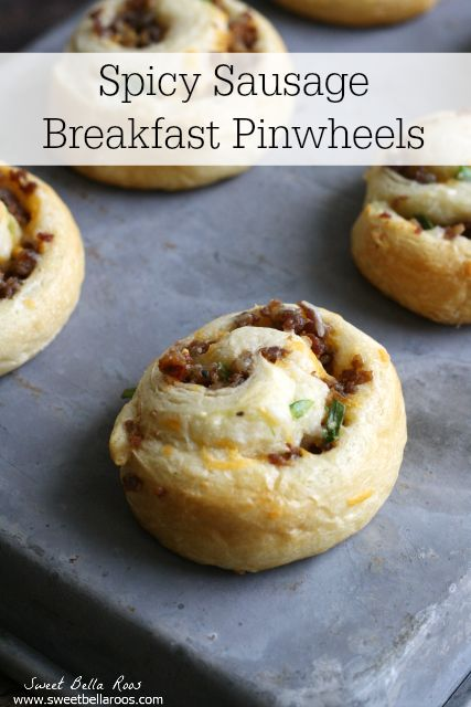Spicy Breakfast Sausage Pinwheels- a new twist on a classic sausage, egg, and cheese sandwich
