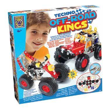 Techno off-road kings constructieset  Deze constructieset is een uitdaging voor alle kleine ingenieurs! Lukt het jouw het voertuig en de terreinwagen helemaal zelf in elkaar te zetten? Ga snel aan de slag.  EUR 15.99  Meer informatie