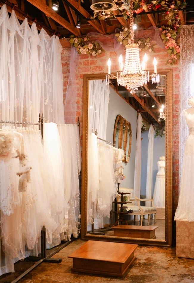 Inside the #ClairePettibone flagship bridal salon: Sweet Violet Bride - http://sweetvioletbride.com/2013/07/reflections-online-gown-shopper/