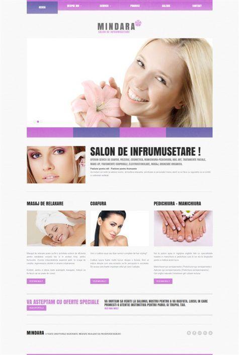 Prosperdesign Site Salon de Infrumusetare by ProsperDesignWeb.deviantart.com on @DeviantArt