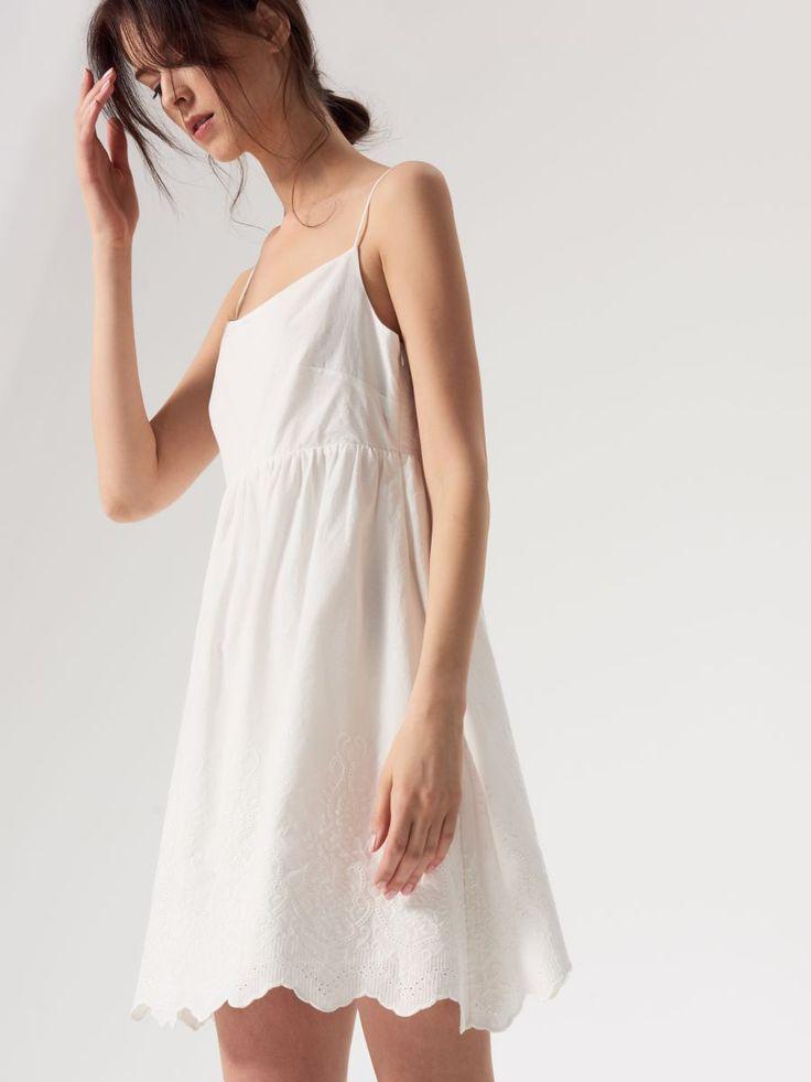 Bawełniana sukienka na ramiączkach AFTER HOURS, MOHITO, QY980-00X