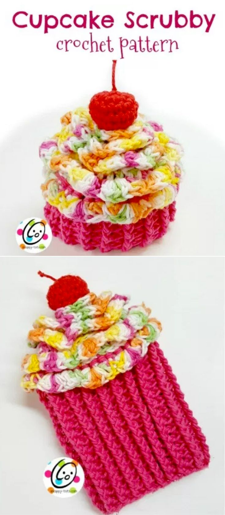 449 best crocheted hats images on pinterest crochet free free crochet pattern cupcake scrubby and mitt by snappytots bankloansurffo Image collections