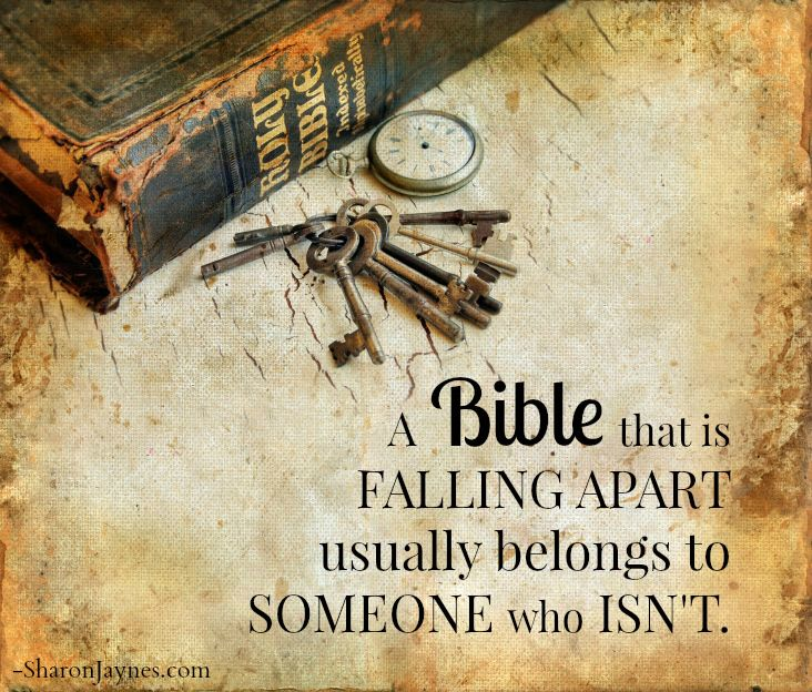Falling Apart Inspirational Quotes: A Bible That Is Falling A Parts Usually Belongs To Someone