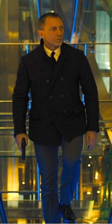 We are extremely delighted to announce further daring man clothing of James Bond SkyFall Pea Coat!!  #SkyFall #JamesBond #DanielCraig #MensSuit #Fashion #Cosplay #MensCoat #geektyrant #geek #sale #Shopping #Onlinestore #Clothing #MensWear #MensOutfit #MensFashion