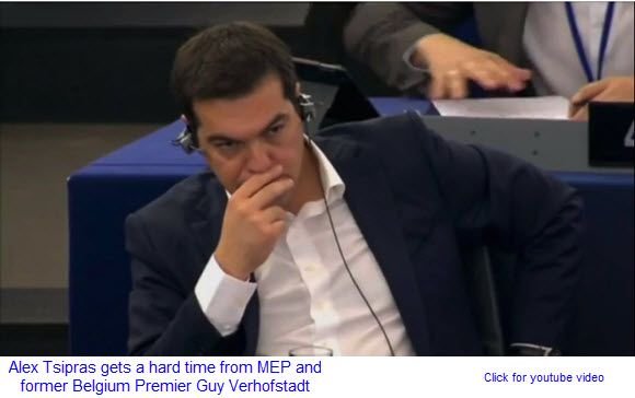 Tsipras lambasted in the European Parliament   FOMC minutes show little appetite for rate rises
