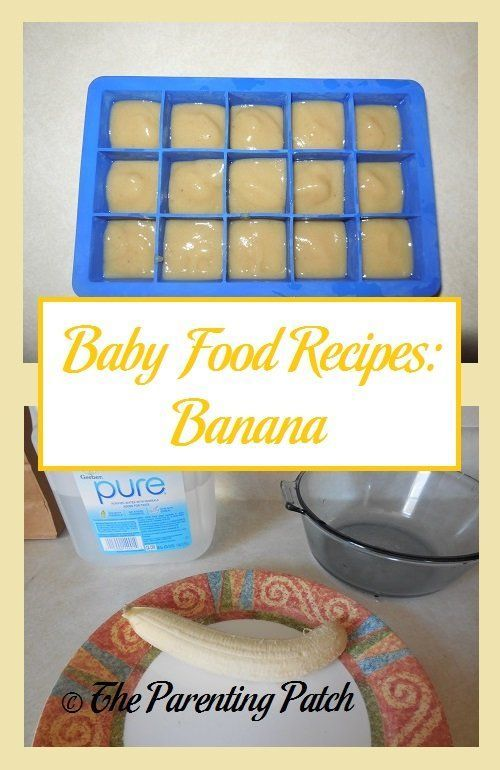how to make bananas for baby food