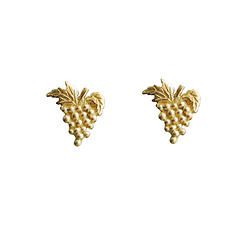 Sweet grapes - gold plated studs