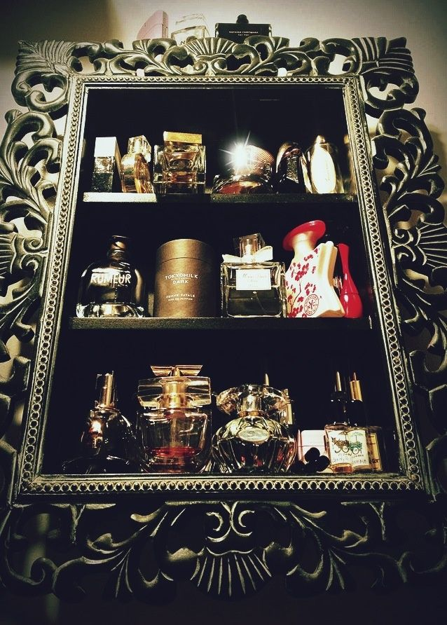 Baroque Wall Shelf for my perfume storage. I'm going to need to expand soon! - department store jewelry, gold plated jewellery, diamond jewelry stores *sponsored https://www.pinterest.com/jewelry_yes/ https://www.pinterest.com/explore/jewelry/ https://www.pinterest.com/jewelry_yes/jewelry-designers/ http://www.tiffany.com/jewelry