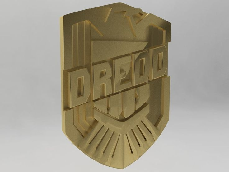Custom Judge Dredd shield badge.  I have made these customisable so any name under 10 characters can fit onto the badge for one off prints.
