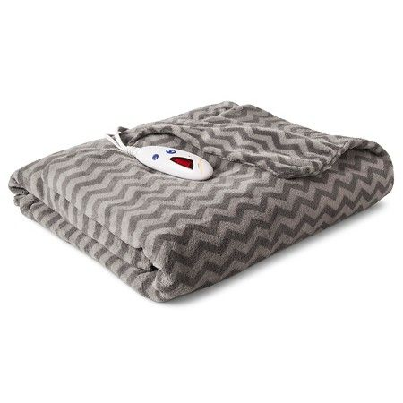 Omg yes please! Chevron heated blanket from target!! Need this!  Biddeford Extra Long Microplush Heated Throw
