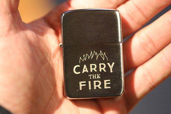 Carry the Fire Zippo Lighter