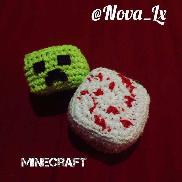 nova_lx:: Creeper y Torta de #minecraft #novalx #venezuela #pc #games #ganer #crochet #amigurumi #handmade