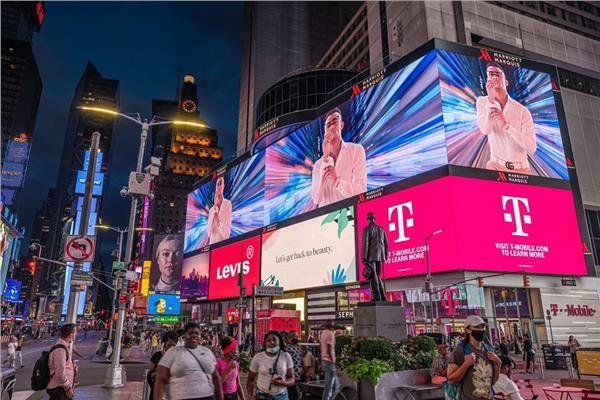 صور إعلانات كليب محمد رمضان الجديد تغزو ميدان تايم سكوار فى نيويورك Times Square Landmarks