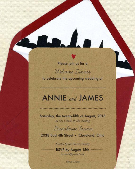 skyline rehearsal dinner invitations invitation ideas pinterest
