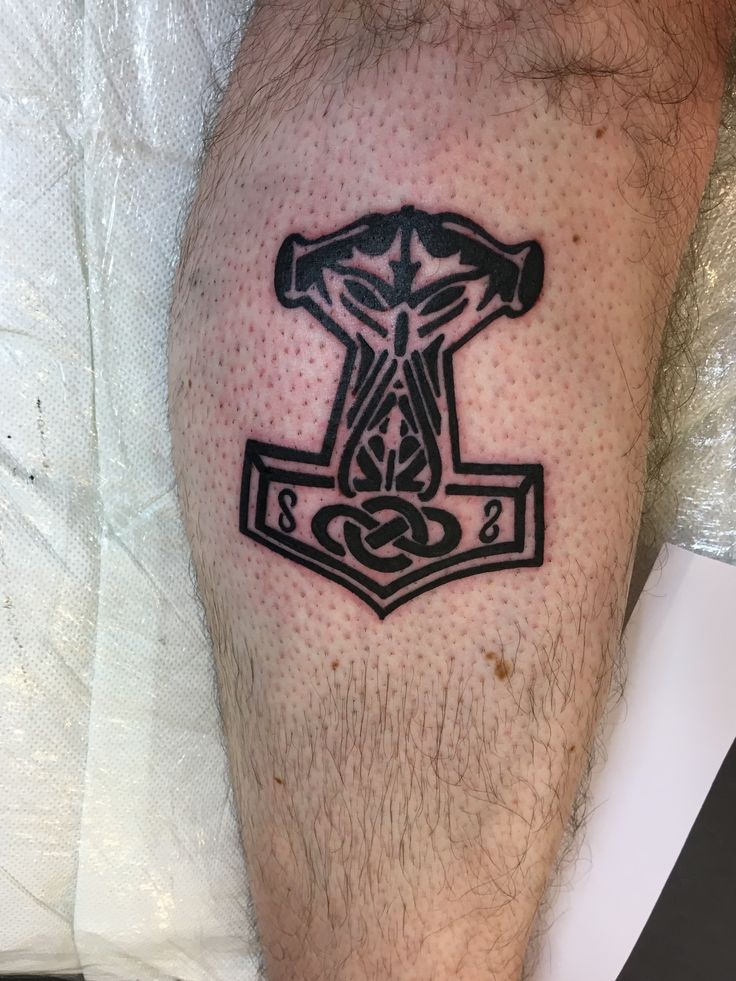 New Norse tattoo #odin #thorshammer #norse