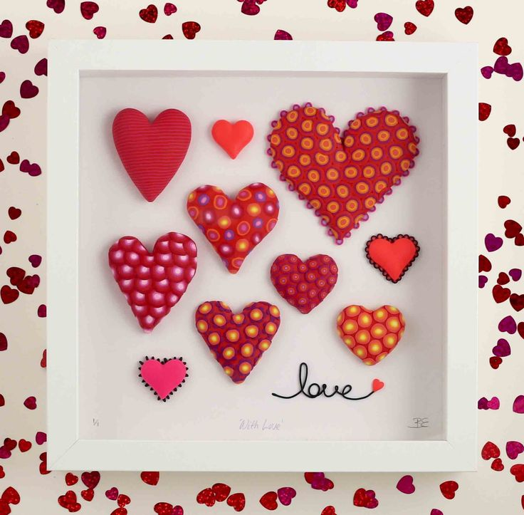 Beverley Edge - 'With Love' made from Polymer Clay $75