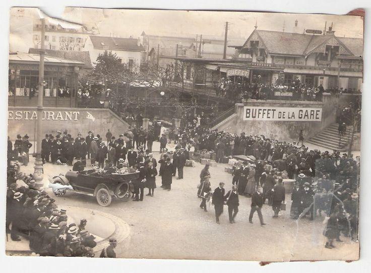 Vevey, la gare en 1900