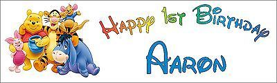 Banners Bunting and Garlands 77517: Winnie The Pooh Personalized Birthday Banner, Boy -> BUY IT NOW ONLY: $30 on eBay!