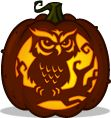 Pumpkin Carving Patterns and Stencils - Zombie Pumpkins! - Night Owl pumpkin pattern