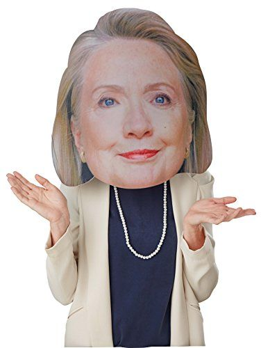 """Bobble Hedz Hillary Clinton Mask  This huge 17"""" hillary clinton mask is perfect for political rallies, parties, Halloween costumes"""