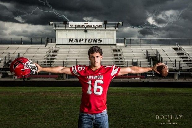 senior picture ideas football player - Google Search