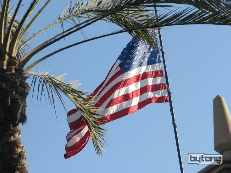 The whole California in a single pic! #USA #California #flag #sky #LA