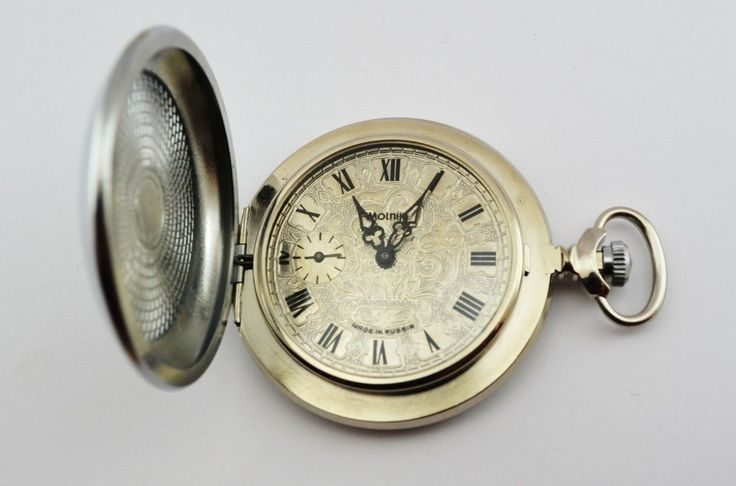 Relógio De Bolso Antigo Molnija Raro - 2ª Guerra Mundial