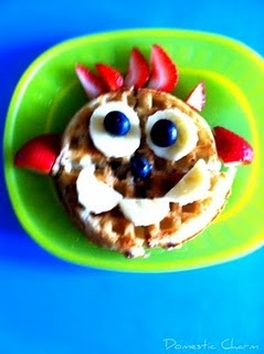 Waffle Funny Face: Children Food, Food Ideas, Kids Stuff, Delight Kids, Funny Faces, Food Faces, Food Art, Waffles Funny, Kids Food