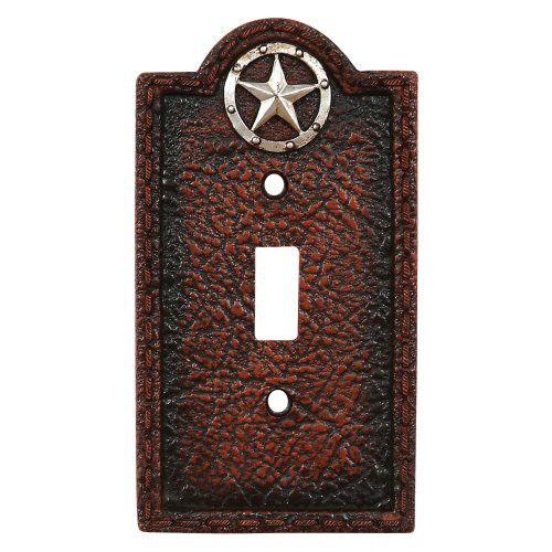 Lone Star Leather Western Single Switch Plate - Southwestern Decor