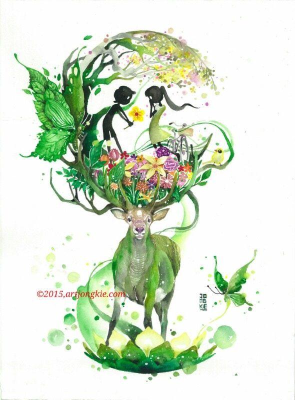Lovely Spring - Jongkie. Found at http://artjongkie.bigcartel.com/product/lovely-spring