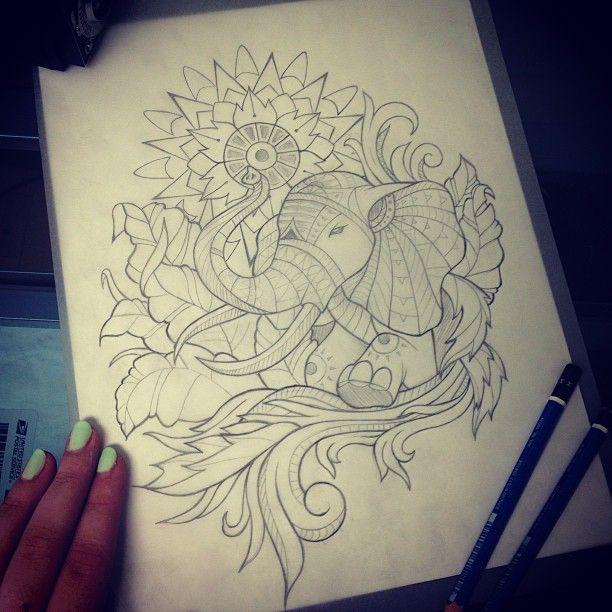 Pics For > Indian Elephant Tattoos Tumblr